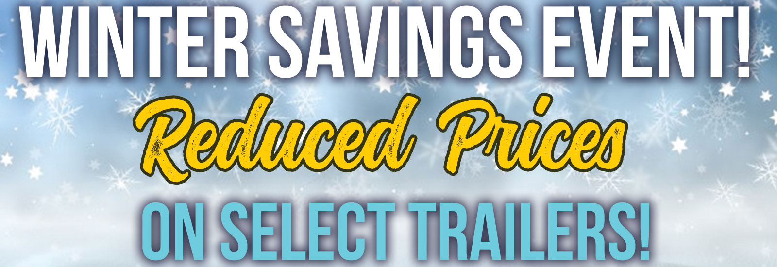 KMR Trailers Winter Savings Event
